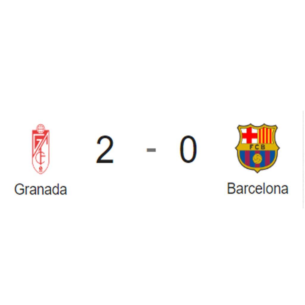 Granada 2 - FC Barcelona 0. Análisis del partido